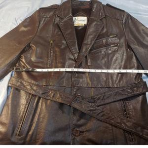 Berman's long Black Leather Jacket w/ Belt